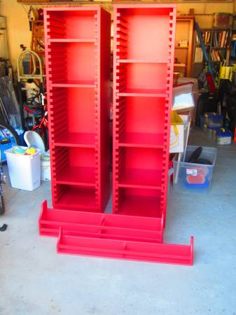 Pottery Barn for Kids Set of two Red Bookshelves and Shelves -  - $395 (Orcutt)