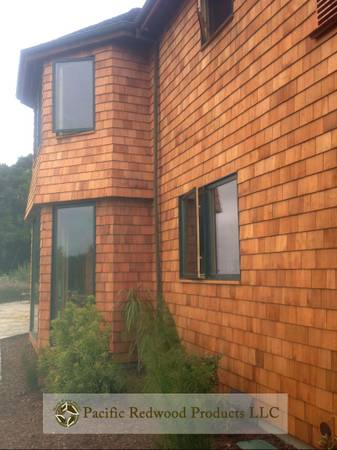 Old Growth Eco-Friendly Redwood Shingles  Shakes (Northern California)
