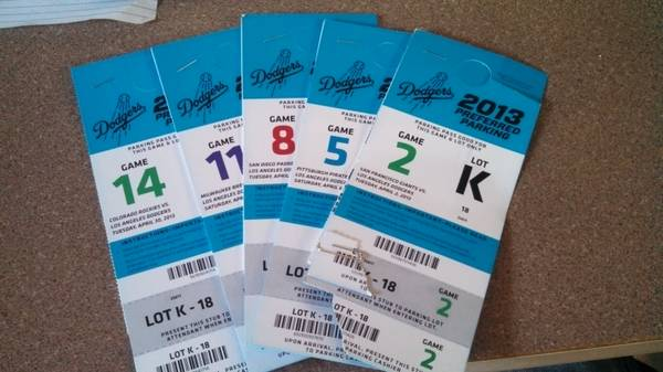 L.A. Dodger (5) game ticket package - $1100 (Santa Barbara)