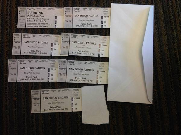 6 SD Padres VS. NY Yankees tickets  Parking pass  - $750 (San Diego)