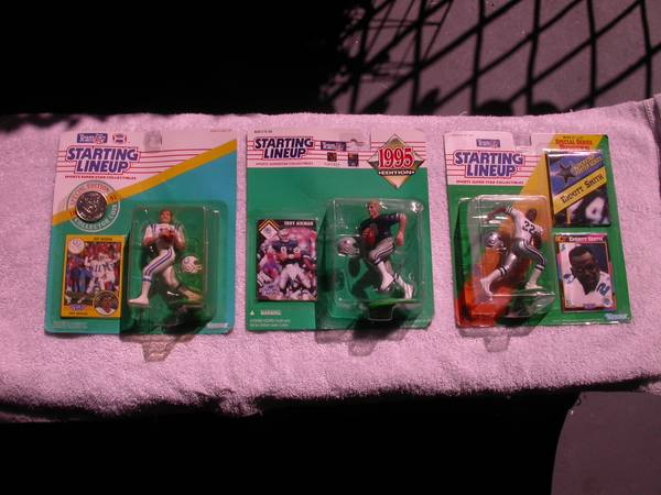 3 STARTING LINEUP FOOTBALL 1991-92-95 - $30 (GOLETA)
