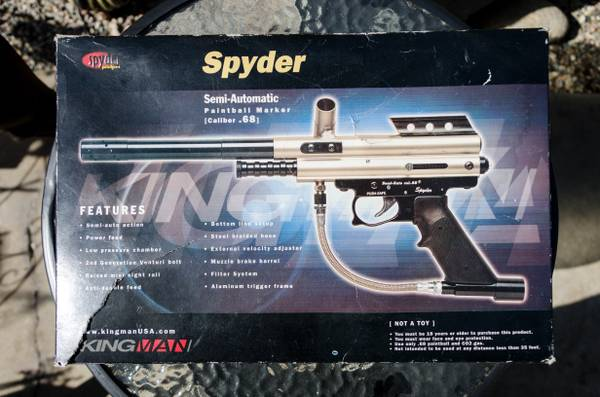 Semi-Auto Spyder .68 Cal Paintball Gun - $50 (old orcutt)