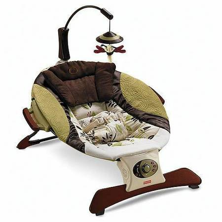 FISHER PRICE ZEN COLLECTION INFANT SEAT BOUNCER - $35 (santa maria)
