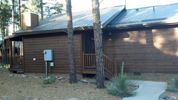 - $1600  2br - 1100ftsup2 - Mountain Cabin in Show Low $1600 mo (Bison Ridge)