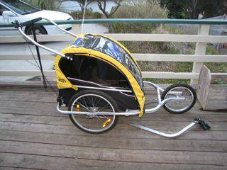 Burley DLite Bike Trailer (Double) Plus Jogging Stroller Attachment - $245 (Atascadero)