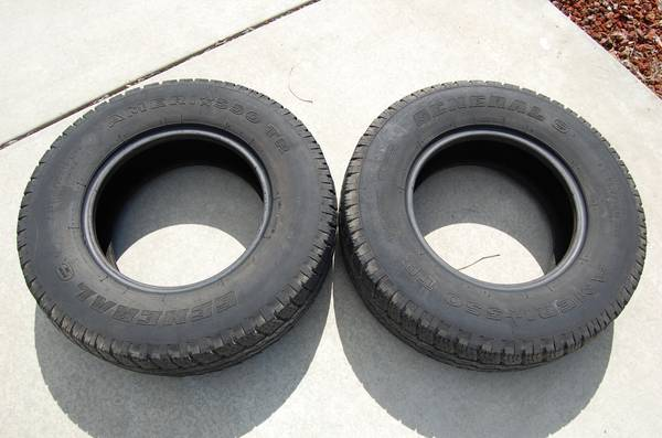 General Ameri-550 TR Tires (2) - $60 (Atascadero)