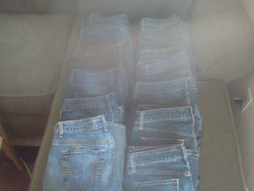 jeans lots of them True Religion, Eddie Bauer, Lucky brand, levis - $5 (san luis obispo costco area)