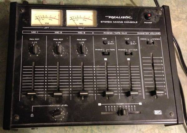 Radio Shack 5-channel stereo mixer - $10 (SLO)
