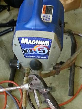 Magnum xr5 paint sprayer espotted for Graco xr5 airless paint sprayer