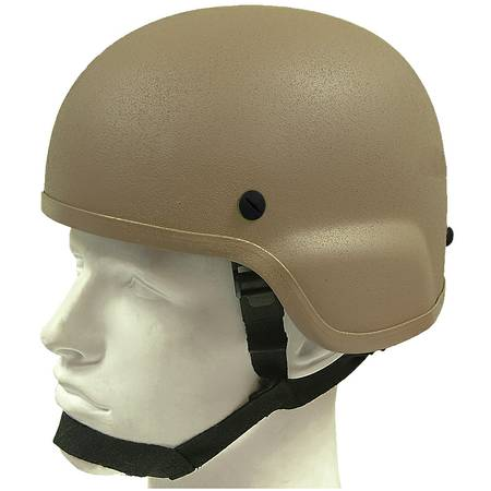 TAN LEVEL IIIA KEVLAR HELMET w 4PT. Harness (NEW) - $220 (StocktonManteca)