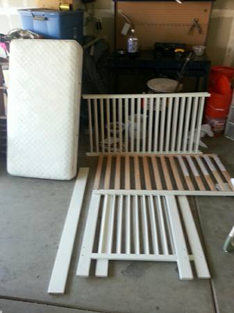 white IKEA crib  - $30 (stockton)