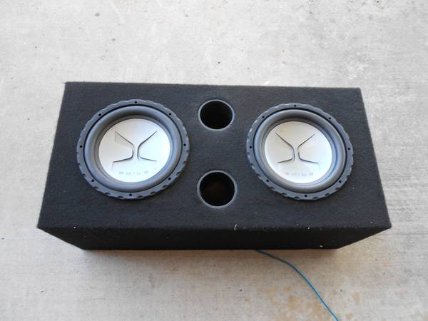 exile 12 inch subs in a custom ported box - $200 (Lodi)