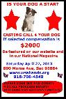 CASTING CALL 4 YOUR DOG  890 Morse Ave  Sacramento 95864