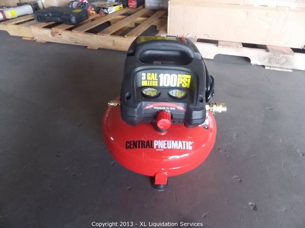 3 gallon oilless pancake air compressor espotted for Harbor freight compressor motor