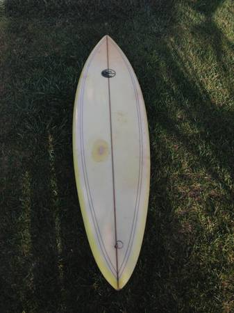 70 PJ Wahl Surfboard Single Fin - $150 (Ventura)