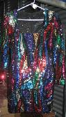 Colorful sequined dress  8   va va voom - MUST SEE  -  25  Thousand Oaks