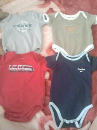 baby boy clothes 0-3 and other items - $13