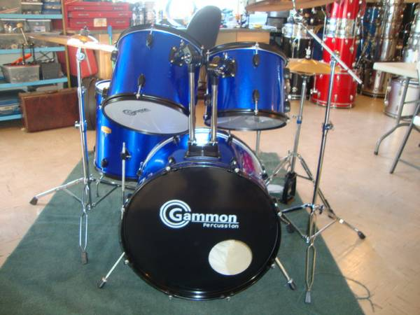 Gammon Percussion Drums, with Cymbals and Hardware - $285 (Lemoore)