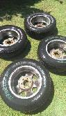 stock f150 rims tires 255 65 17 s -  450  tulare