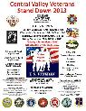 7 10-7 24  CENTRAL VALLEY VETERANS STAND DOWN 2013  Sep 17-20  Fresno